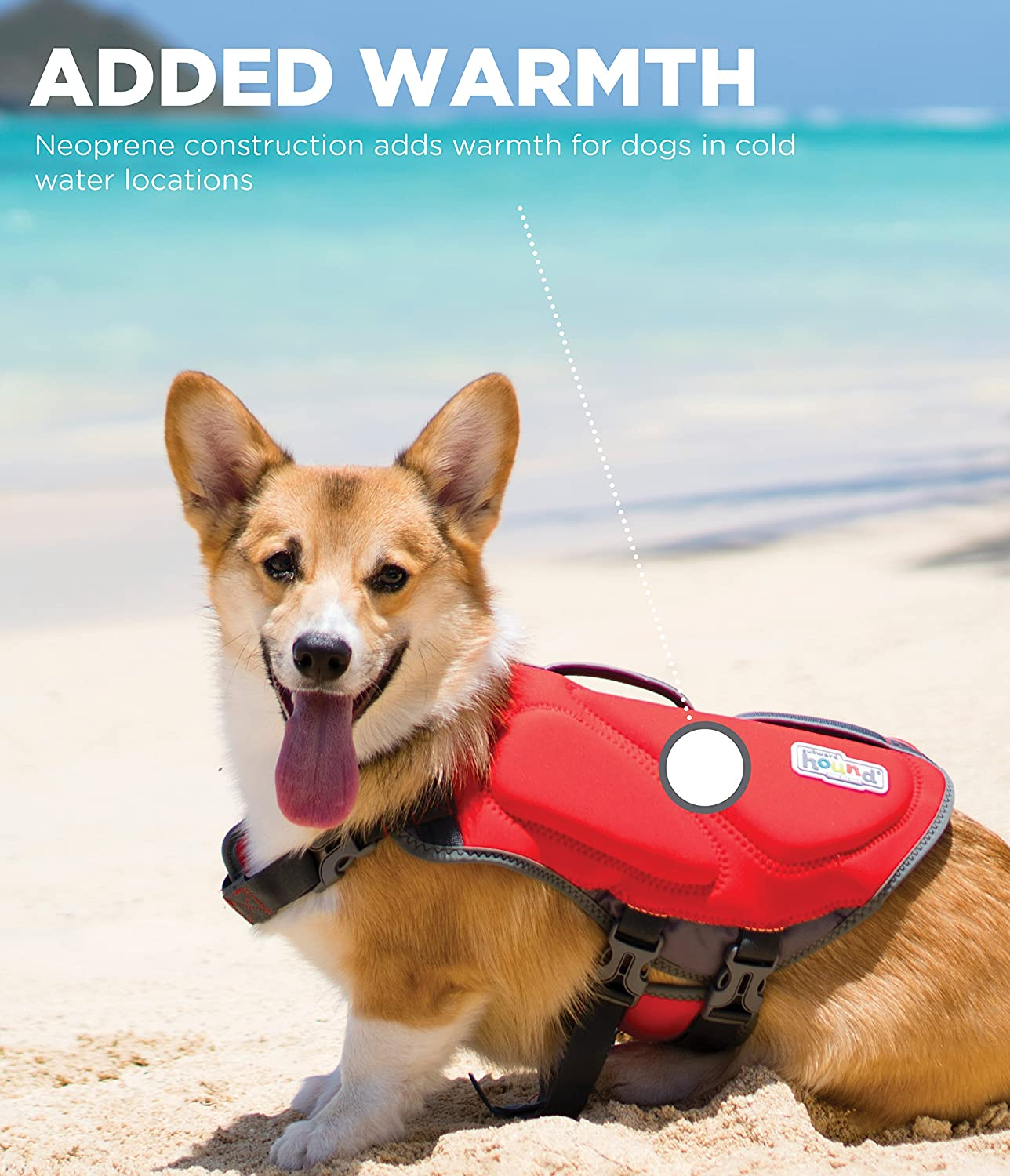 Red Extra Large 85-100 Lbs Outward Hound for Dogs Dawson Swim Life Jacket XL