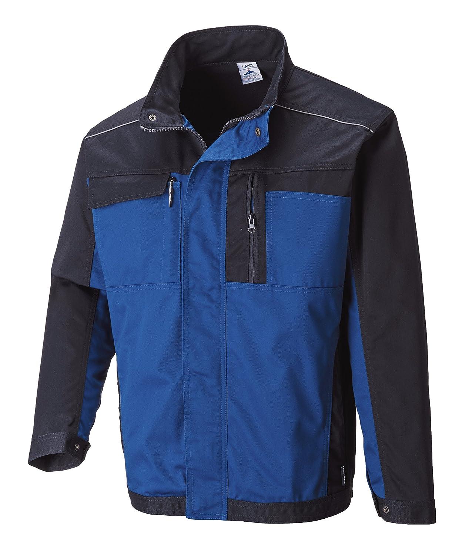 Portwest TX33BKRXXXL Hamburg Jacket Black//Grey Size: 3X-Large Regular