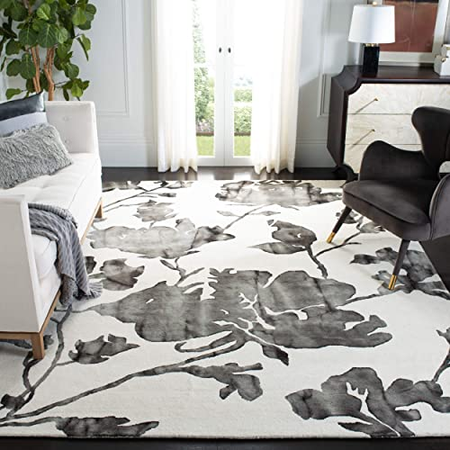 Safavieh Dip Dye Collection DDY716D Ivory and Charcoal Area Rug