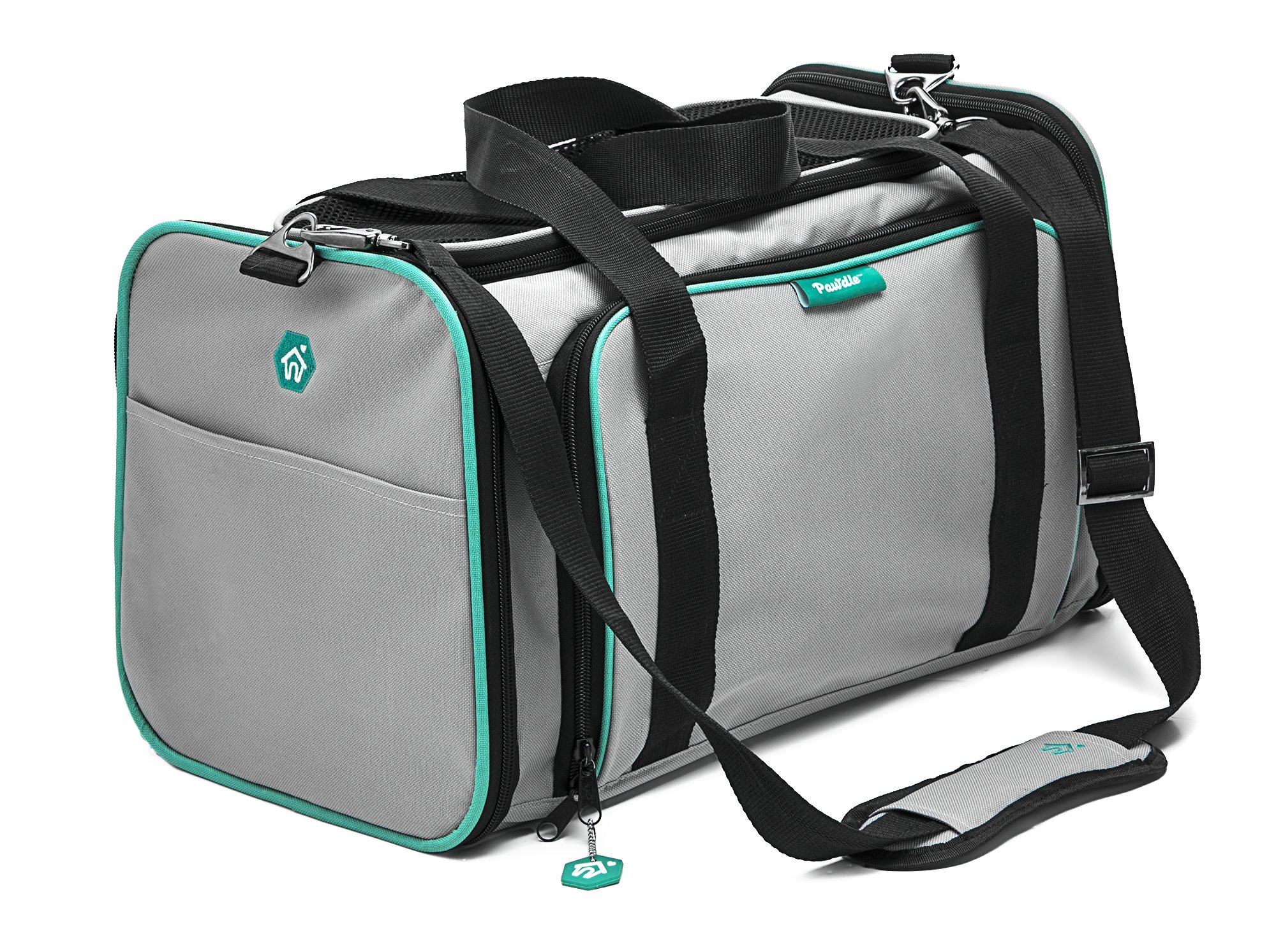 Pawdle Expandable and Foldable Pet Carrier Domestic Airline Approved (Heather Gray) by Pawdle (Image #5)