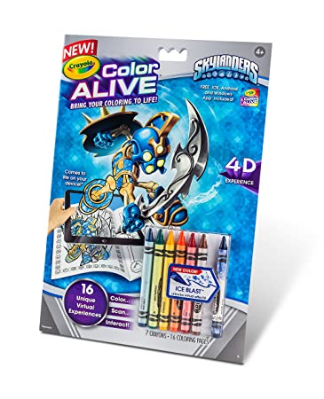 Amazoncom Crayola Color Alive Action Coloring Pages Skylanders