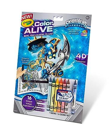 crayola color alive action coloring pages skylanders