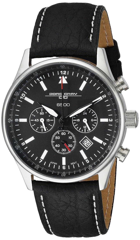 c527c6a777e Amazon.com  Jorg Gray JG6500 Commemorative Round Watch with Black Italian  Buffalo Grain Leather Strap with White Stitches  Jorge Gray  Watches