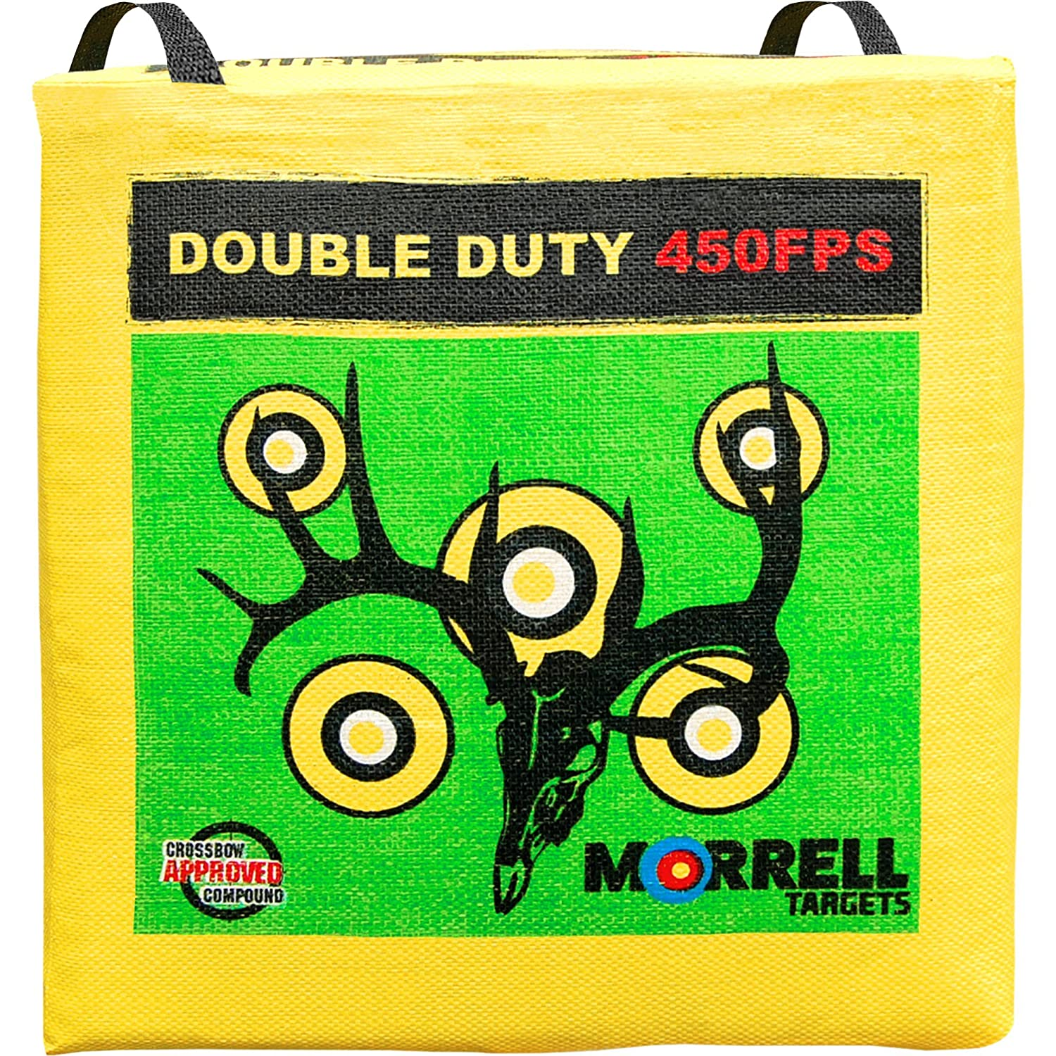 for Crossbows Compounds Traditional Bows and Airbows Morrell Double Duty 450FPS Field Point Bag Archery Target