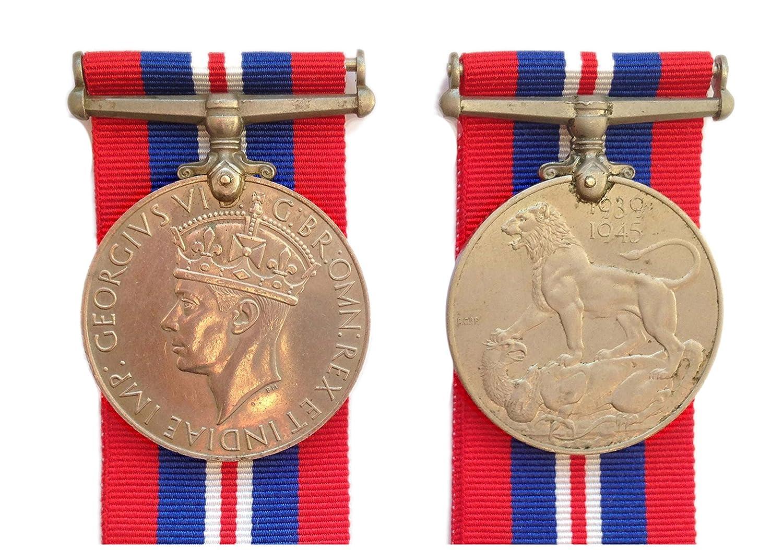 Original Genuine full size WWII WW2 World War Two 1939-1945 King George VI  War Medal