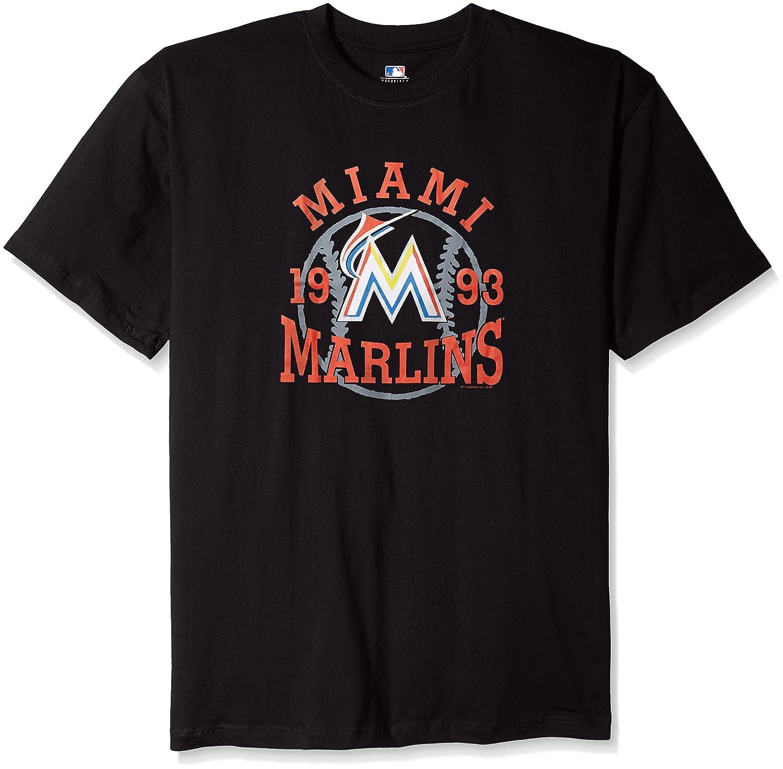 配送員設置 MLB Miami Miami MLB MarlinsメンズチームグラフィックショートスリーブグラフィックTシャツ、3 B0195M336G x、ブラック B0195M336G, 彩食グルメ:ba71549d --- a0267596.xsph.ru