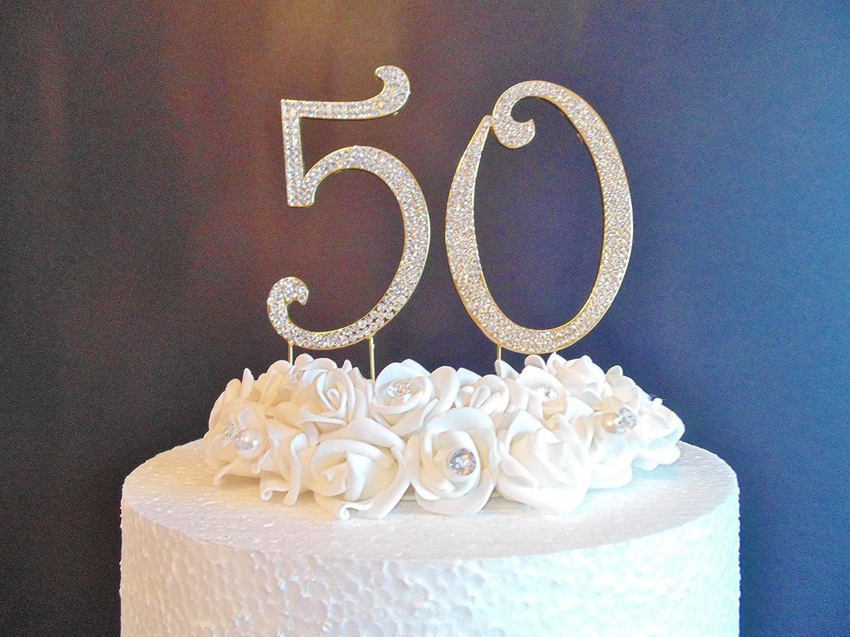 50 Gold Zahlen Kuchen Dekoration Grosse 12 Cm Golden Zahlen Mit
