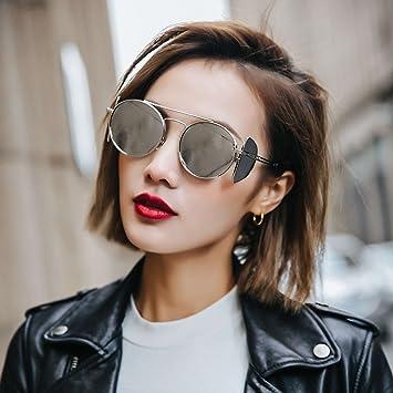 VVIIYJ Gafas de Sol de Marco Redondo Mujer Cara Redonda ...