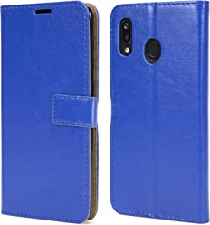 NWNK13 Samsung Galaxy A70 Case Slim Premium Leather Flip Case Notebook Wallet Book Case Soft Flexible Gel Frame Kickstand FunctionCard Holder ID Slot Protective Skin Cover Compatible for Samsung A70