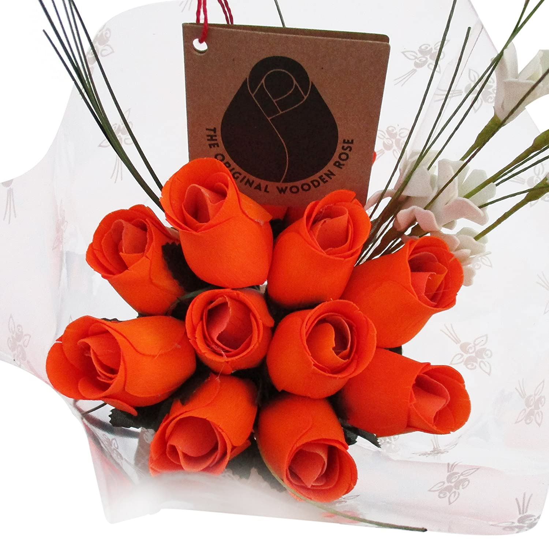 Amazon The Original Wooden Rose Halloween All Orange Flower