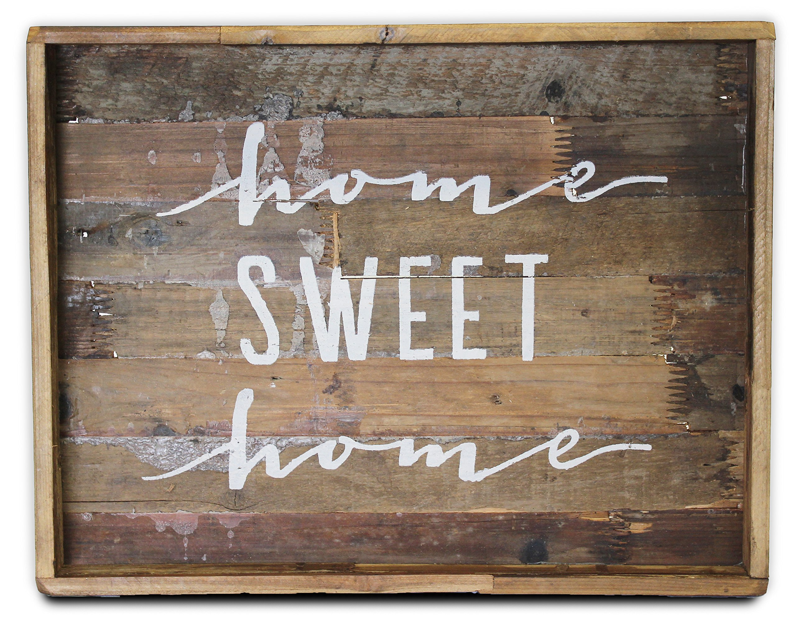 Home Sweet Home Wood Sign, Large (Tray, Decorative Plaque) | by Urban Legacy by Urban Legacy