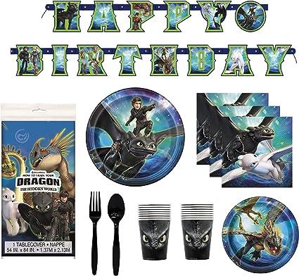 Amazon.com: Cómo entrenar a tu dragón 3 decoraciones de ...