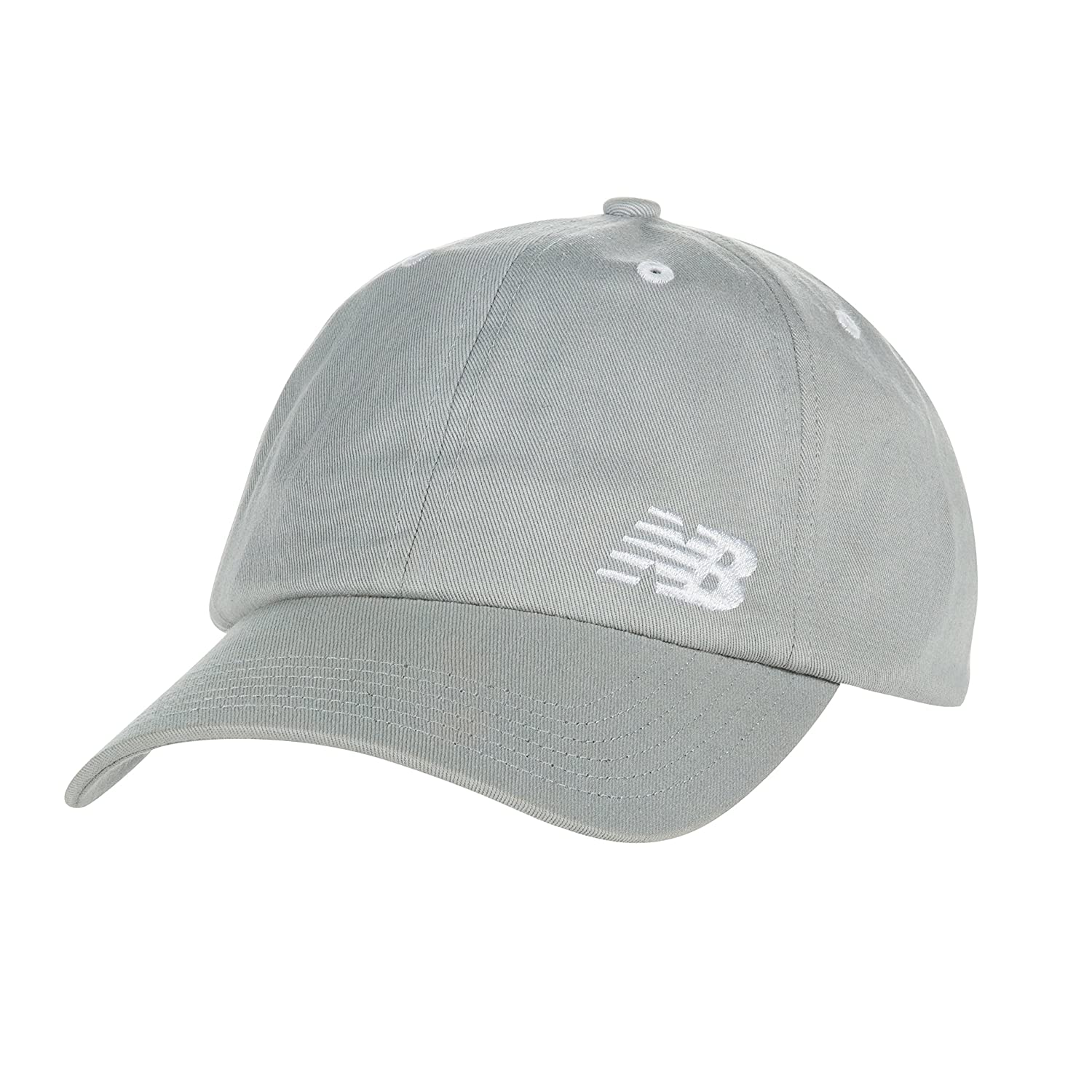 New Balance 6-Panel Curved Brim Gorra, Unisex, Stone Grey, Talla ...