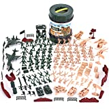 JOYIN 164 Piece Military Soldier Playset Army Men Play Bucket Army Action Figures Battle Group Deluxe Military Playset with A