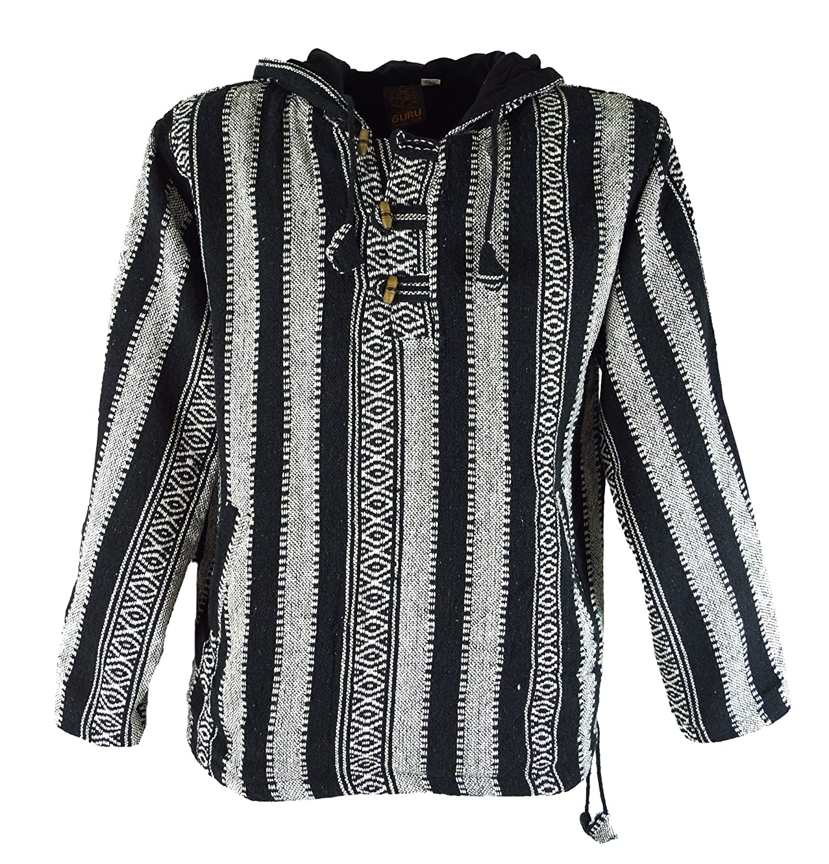 Guru-Shop Goa Kapuzenshirt, Baja Hoody, Herren, Baumwolle, Sweatshirts & Hoodies Alternative Bekleidung