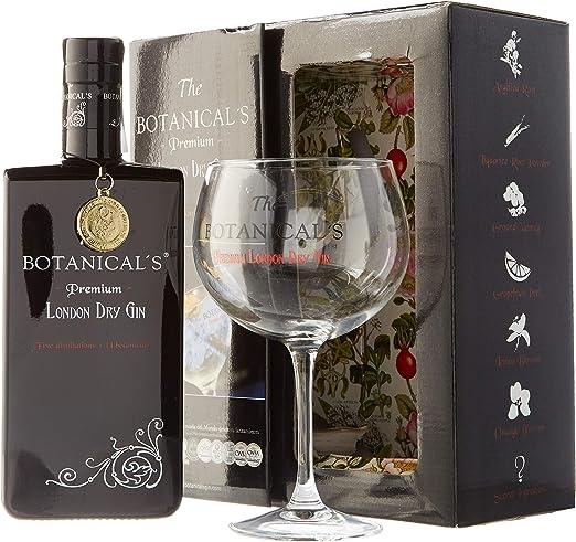 The Botanicals - Pack con Ginebra London Dry y Copa Balón, 700 ml ...