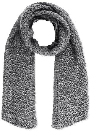 UNITED COLORS OF BENETTON Plain Knit Chiunky Scarf - Echarpe - Femme - Gris  (grey fdff529a52d