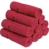 Story@Home 100% Cotton Soft Towel Set of 10 Pieces, 450 GSM - 10 Face Towels - Red