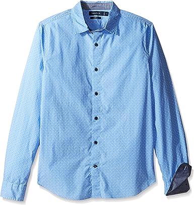 Nautica Print Regular Fit Camisa Casual para Hombre: Amazon.es: Ropa y accesorios