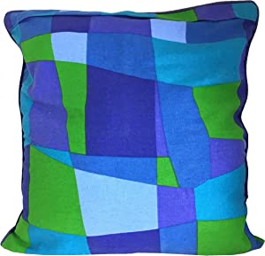 Sia Home Fashions Decor Decorative Pillow Cover, Green Blue Mosaic, 20 by 20-Inch