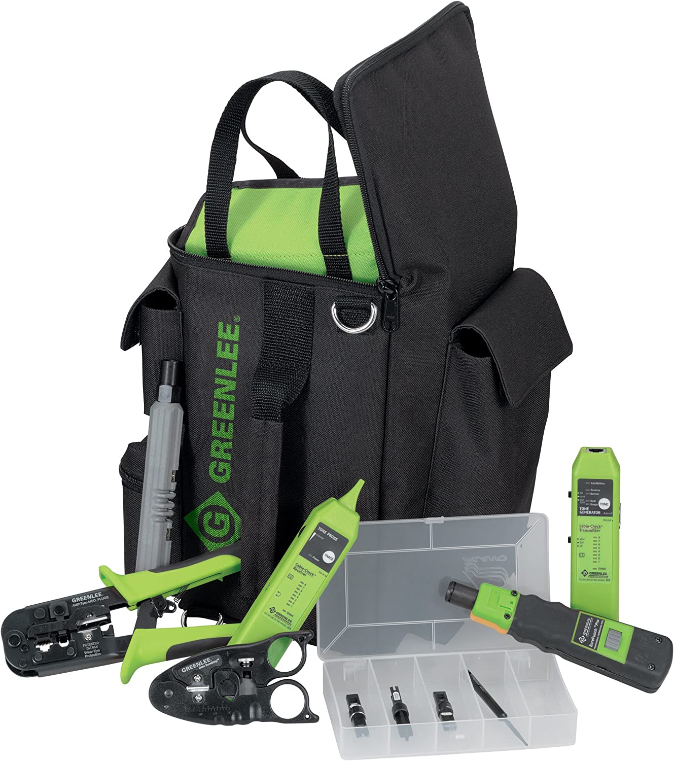 Greenlee PA4941 Durable GripPack SurePunch Professional Technician/'s Kit