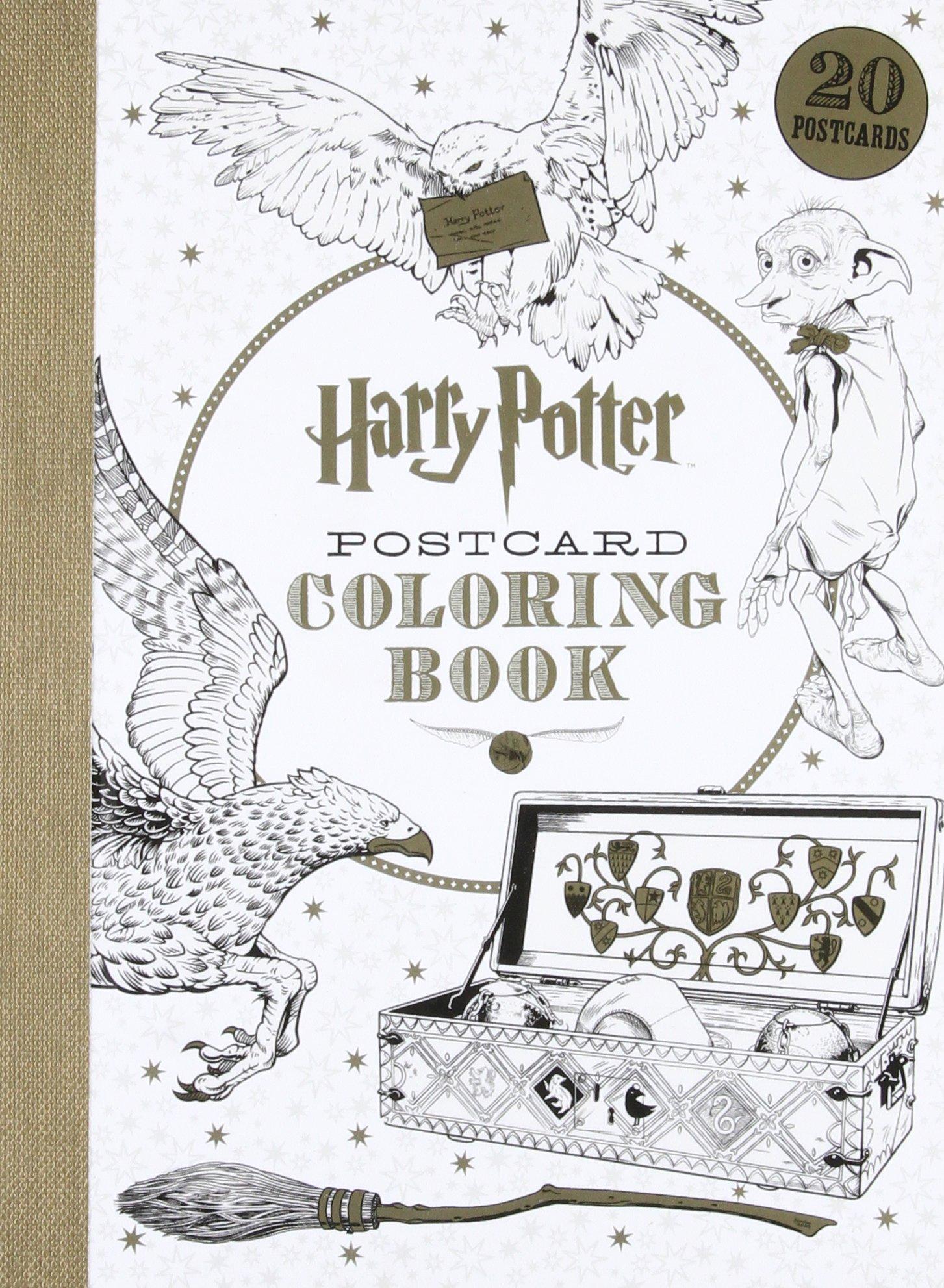 Harry Potter Postcard Coloring Book Scholastic 9781338045758 Amazon Books
