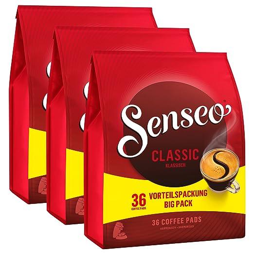 Senseo Kaffeepads Classic / Clásico, Sabor pleno e intenso, Café ...