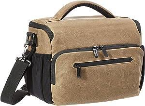 AmazonBasics Vintage Camera Messenger Bag- Vintage Wax Canvas - Brown