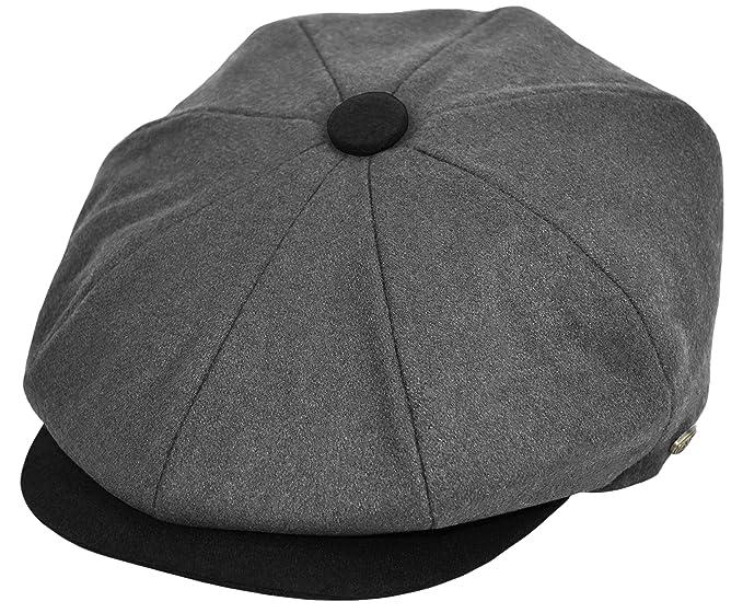 c87cafdb2 Classic Men's Wool Herringbone Newsboy Cap Driving Cabbie Tweed ...