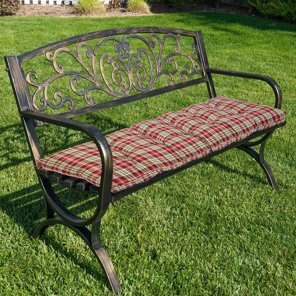 Floral Magshion Indoor//Outdoor Wicker Bench Chair Cushion Made in USA