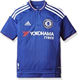 adidas Boys' FC Home Jersey-Chelsea Blue/White/Power Red, Size 128