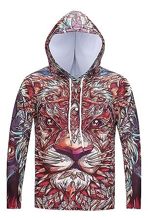 26c95486a266 Com 3D Hoodie  half-off 749b6 58783 GO Unisex Mens Realistic 3d Digital  Pullover Sweatshirt Printed Hoodie Hooded ...