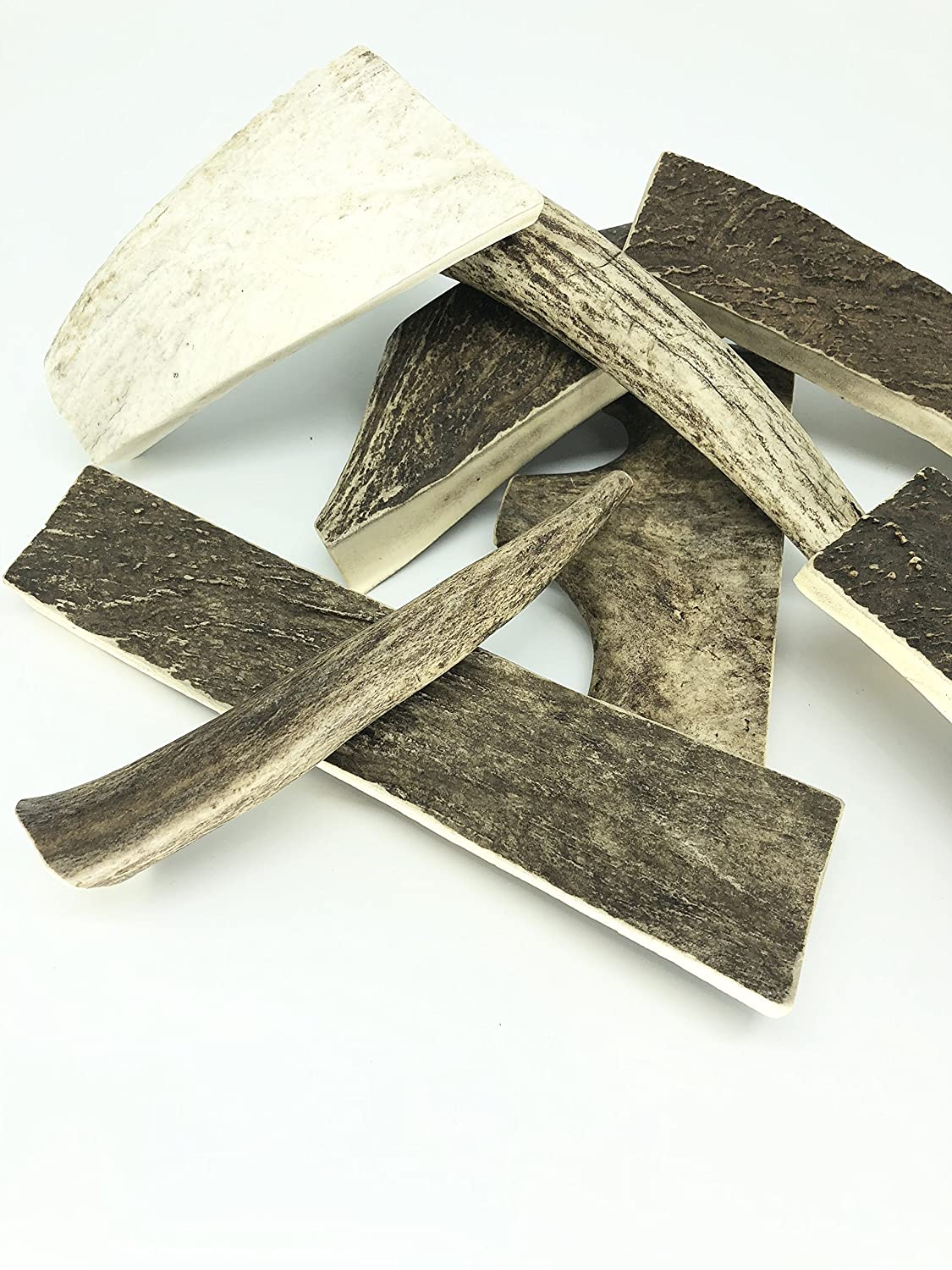 Premium Moose Dog Chew Antler Pieces - Antlers by The Pound, One Pound -  5 5 Inches or Longer (4-5 Pieces) Super Value Pack *Make in Canada