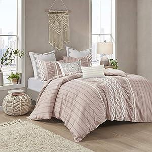 INK+IVY 100% Cotton Duvet Mid Century Modern Design, All Season Comforter Cover Bedding Set, Matching Shams, Full/Queen(88