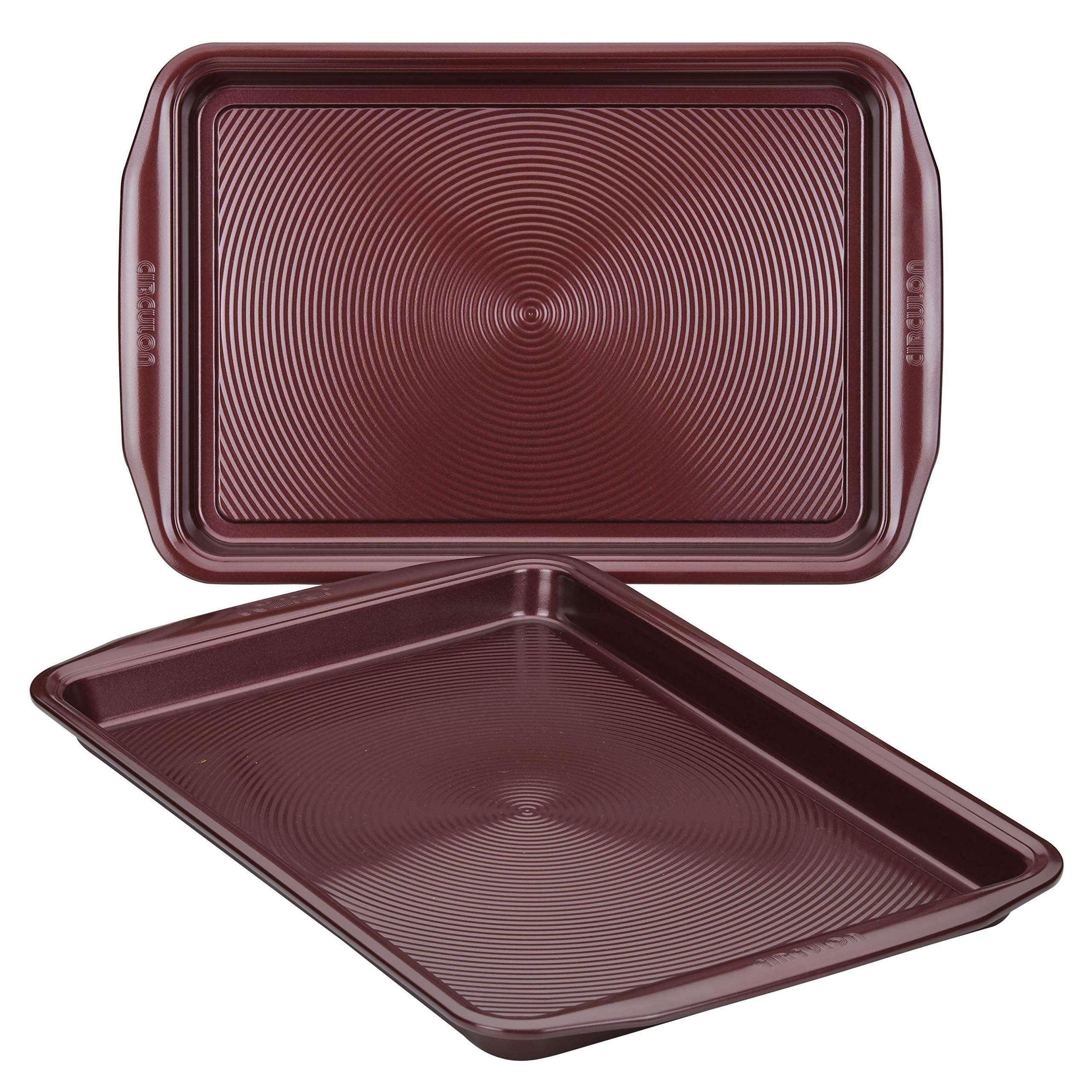 Circulon 47738 2-Piece Bakeware Steel Baking Sheet Set, Merlot by Circulon (Image #3)