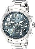 Nautica Men's 'NCC 01 CHRONO' Quartz Stainless Steel Casual Watch, Color:Blue (Model: NAD16549G)