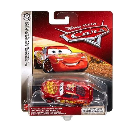 amazon com disney pixar cars metallic cars 3 lightning mcqueen die