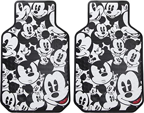 New Disney Mickey Mouse Classic Car Truck SUV Front Rear Back Rubber Floor Mats