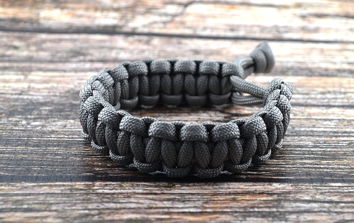 Mad Max Fury Road Tom Hardy Paracord Adjustable Survival Bracelet - Grey -  Size 8