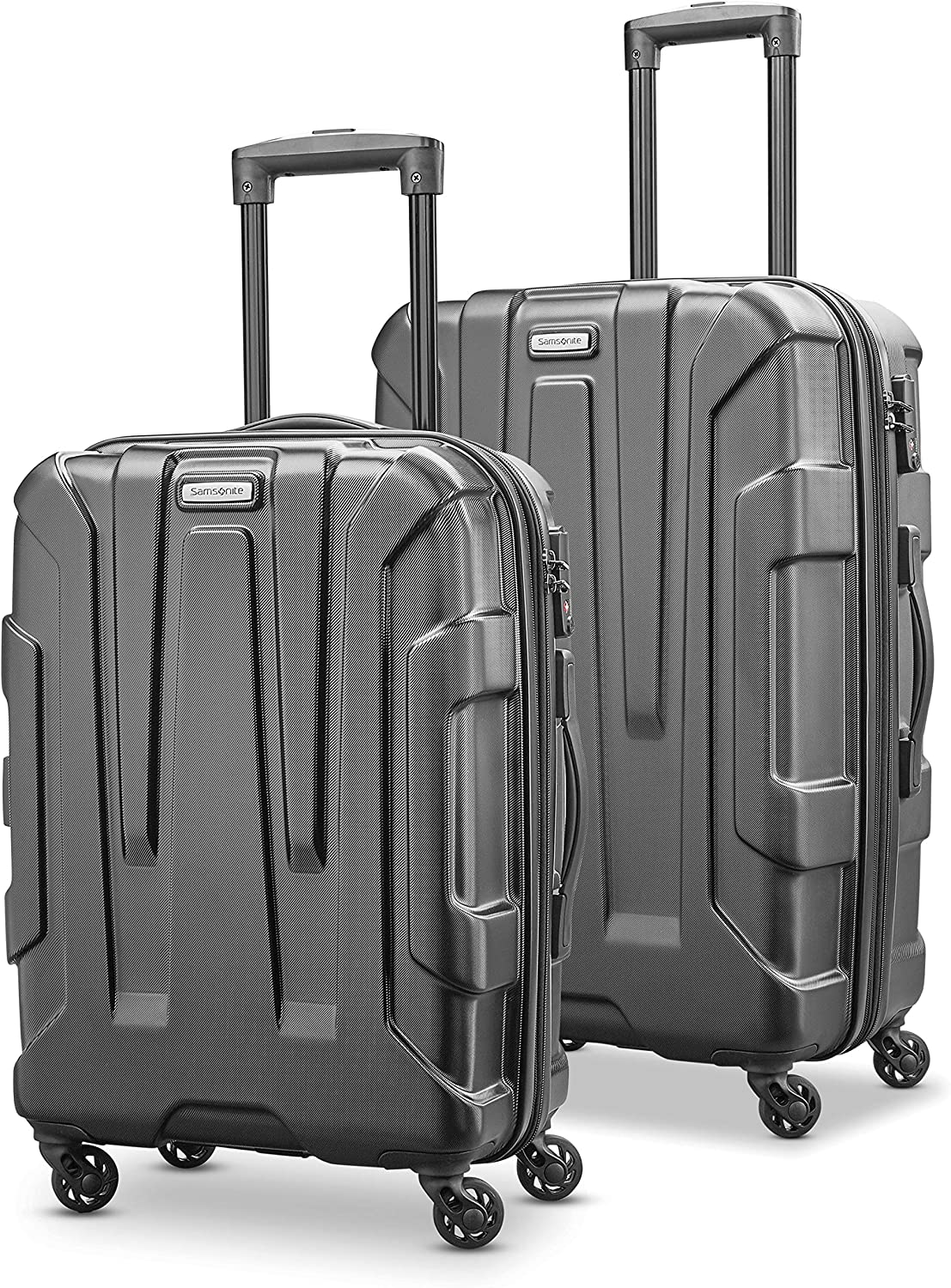Black Samsonite Centric Hardside Expandable Luggage with Spinner Wheels