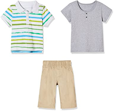 38c7986ca18f Sprout Star 3 Piece boy and Toddler Cotton Set Summer Outfits Set T-Shirt+  Leisure Short and Pants