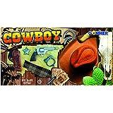 Gonher Cowboy Play Set 8 Plus Hat, Multi Color