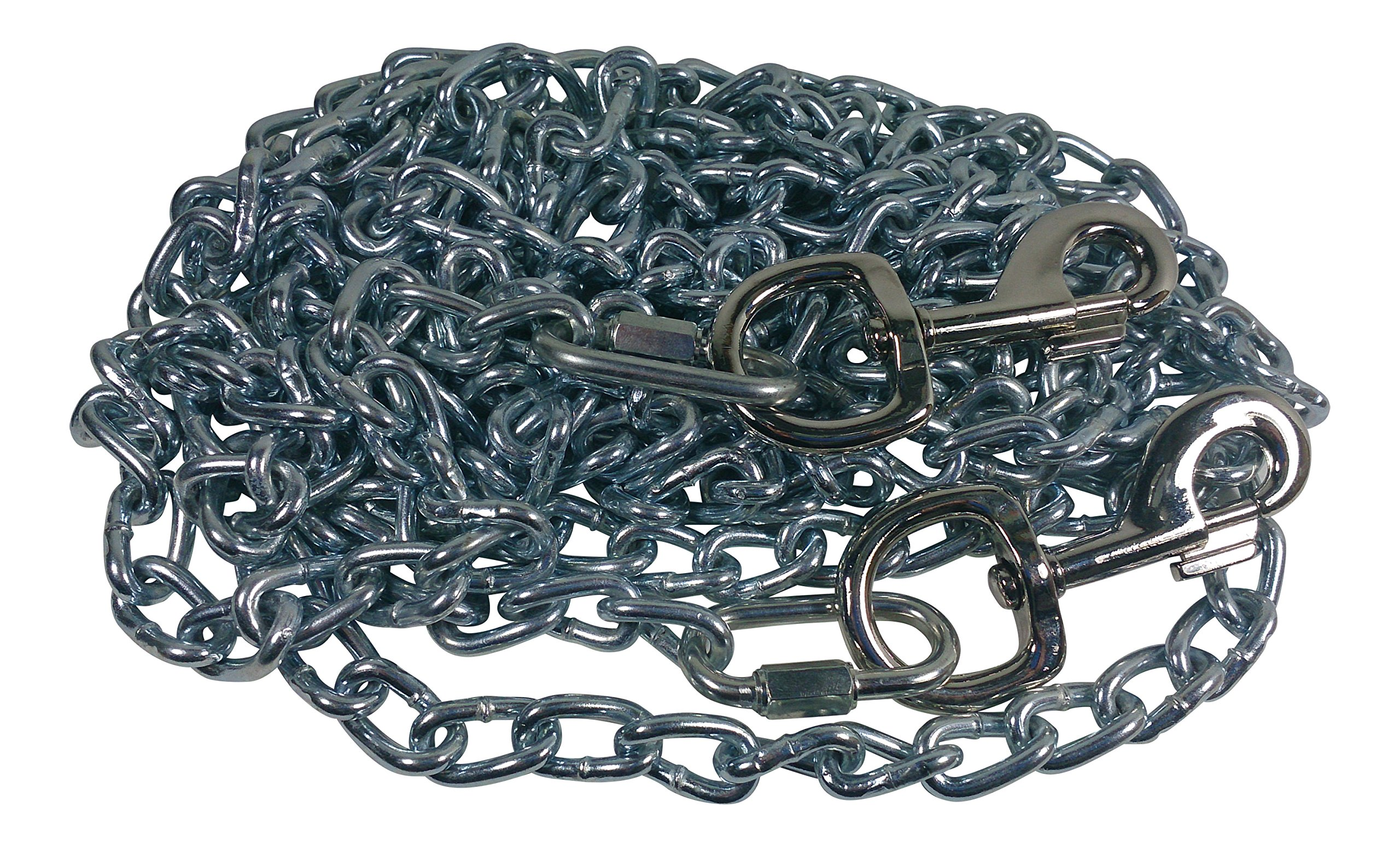 Beast-Master Twist Link Tie-Out Chain Heavy Duty Big Dogs (100 FT)