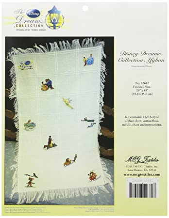 """New MCG TEXTILES Baby Afghan Cloth 18 Count 29"""" X 45"""" Cross Stitch Embroidery"""