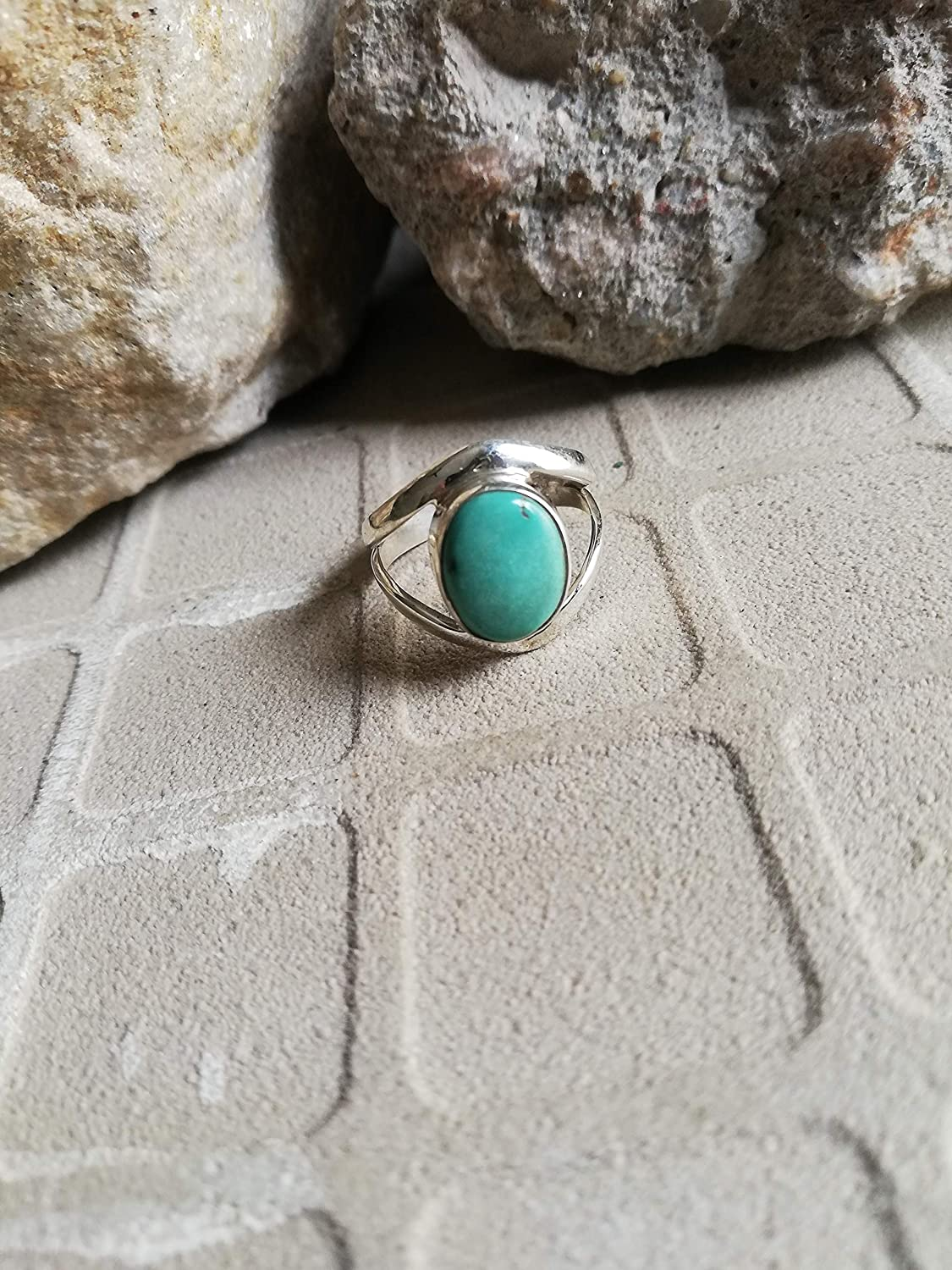 Blue Copper Turquoise Ring, 925 Sterling Silver Ring, Oval Shape Ring, Modern Ring, Trending Ring, Exclusive Ring, Organic Ring, Blue Color Ring, Healing Ring, Vintage Ring, Victorian Ring, Boho Ring, US All Size Ring.......