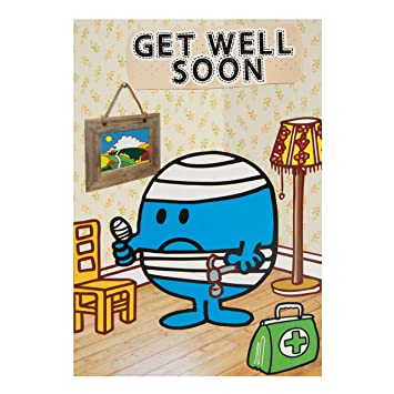 mr men get well soon card amazon co uk office products