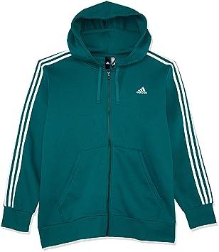 43dbf468b843 adidas Men s Essentials 3-Stripes Full Zip Hooded Jacket