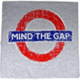 Distressed Mind The Gap Roundel Printed T-Shirt, Grey, Transport For London Souvenir Tees - GY0011