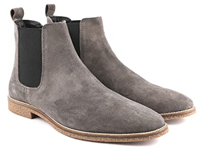Freacksters Men\u0027s Suede Leather Chelsea Boots