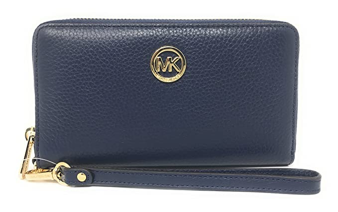 567c12b0ac62 Image Unavailable. Image not available for. Colour: Michael Kors Fulton  Large Flat Multi Function Leather Phone Case ...